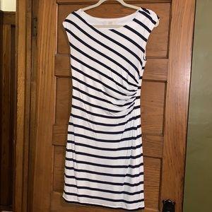 Loft navy striped dress